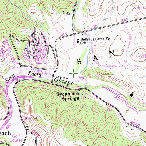 Topographic Map of See Canyon, CA