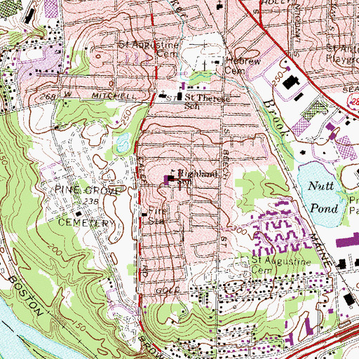Topographic Map of Mount Zion Christian School, NH