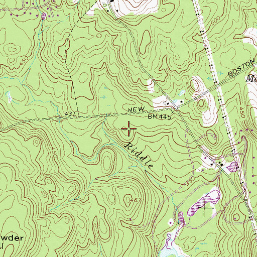 Topographic Map of Riddle Brook Elementary School, NH