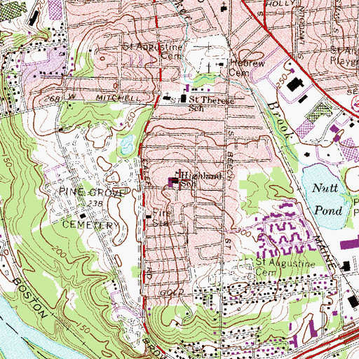 Topographic Map of Mount Zion Christian Schools, NH