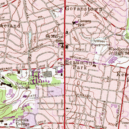 Topographic Map of Antioch Church, MD