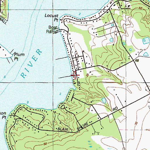 Topographic Map of Cove Marina, MD