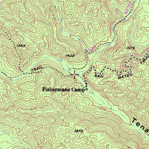 Topographic Map of Tenaja Canyon, CA