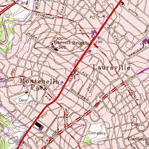 Topographic Map of Pentecostal Church of the Nazarene, MD