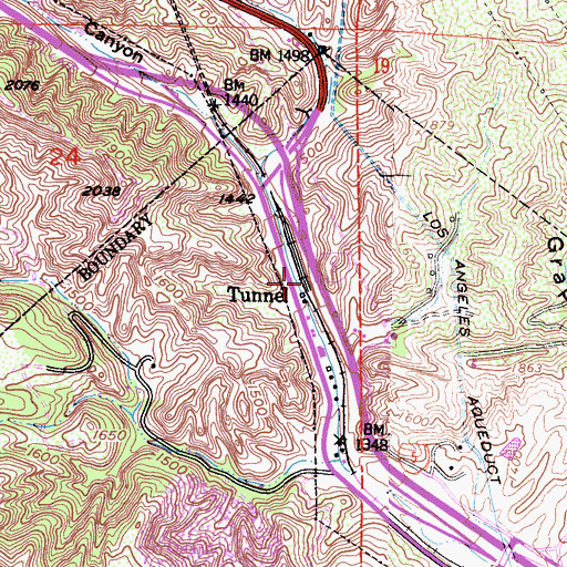 Topographic Map of Tunnel, CA