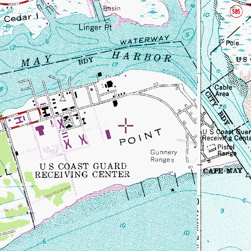 Coast Guard Training Center Cape May NJ - Us coast guard bases map