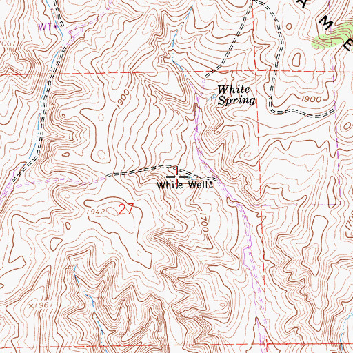 Topographic Map of White Well, CA