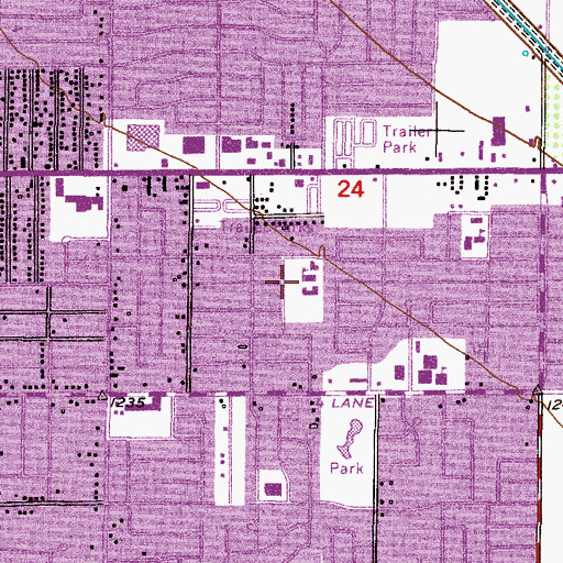 Topographic Map of Christ the King School, AZ