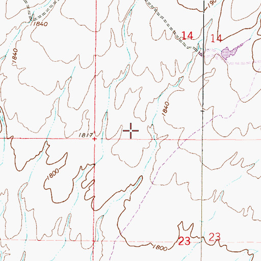 Topographic Map of Anthem School, AZ