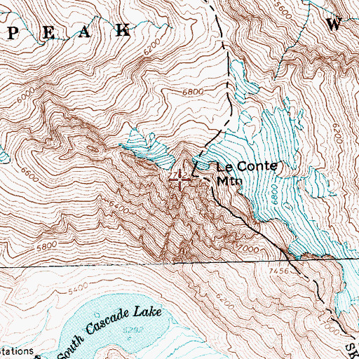 Topographic Map of Sprenger Spires (not official), WA