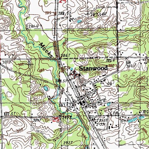 Stanwood Michigan Map.Stanwood Elementary School Mi
