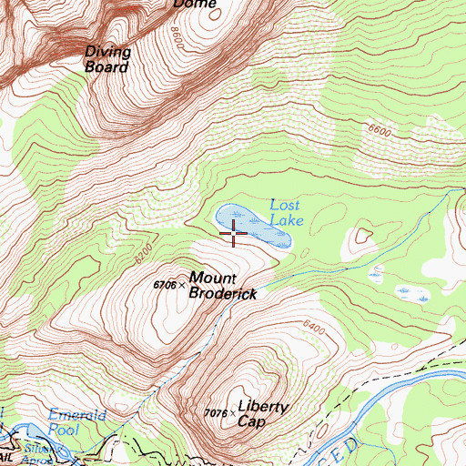 Topographic Map of Lost Lake, CA