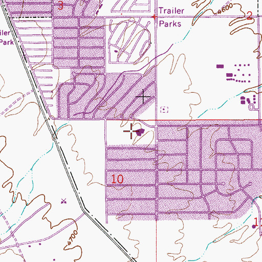 Topographic Map of First Baptist Christian Academy, AZ