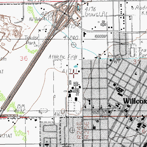 Topographic Map of Cochise College - Willcox Center, AZ