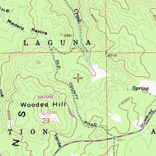 Topographic Map of Agua Dulce Campground, CA