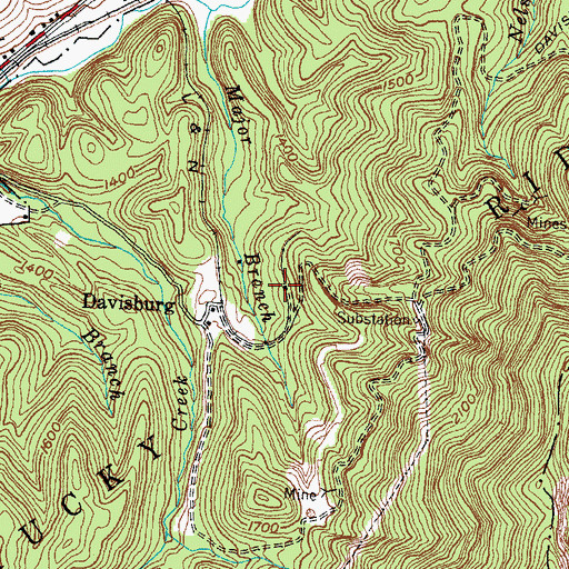 Topographic Map of Evenston Railroad Station (historical), KY