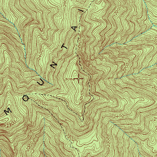 Topographic Map of Canada Peak, KY