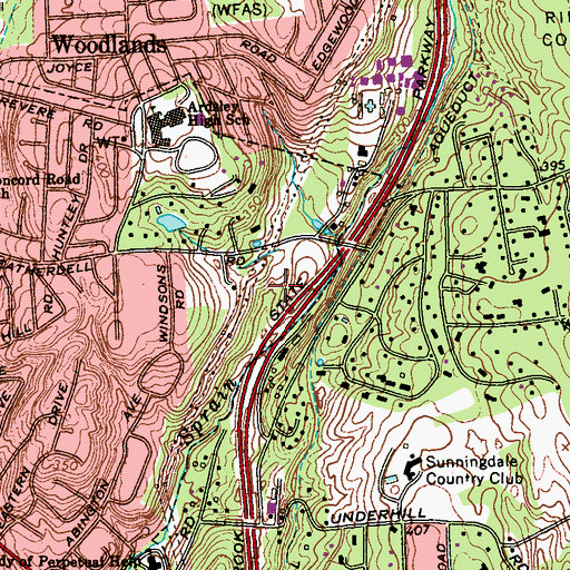 Topographic Map of McDowell Park, NY