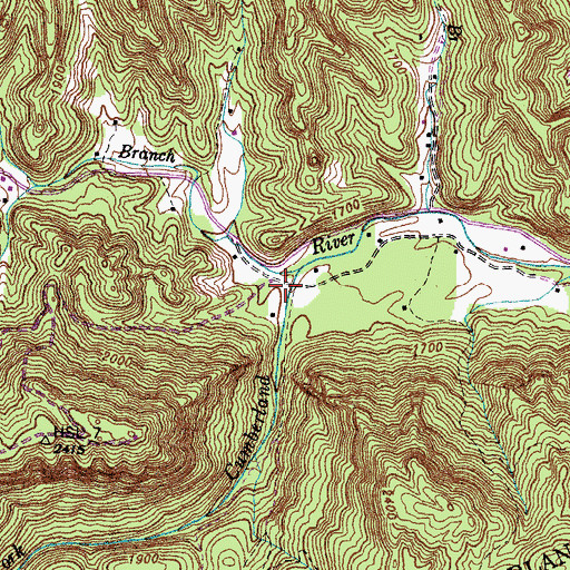 Topographic Map of Upper Martins Fork School (historical), KY