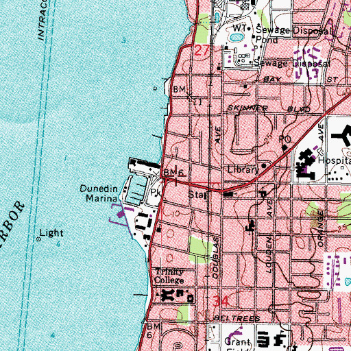 Topographic Map of Armston Park, FL