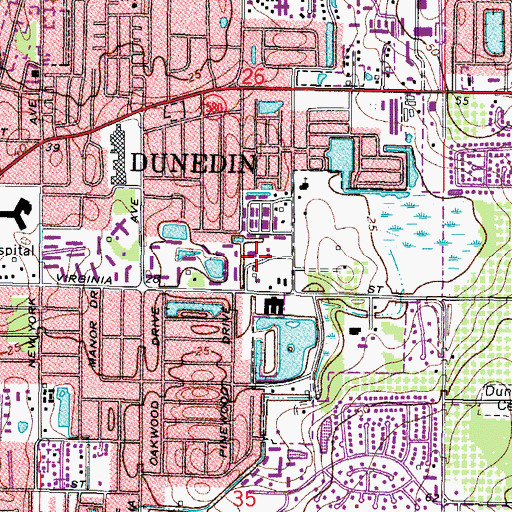 Topographic Map of Eagle Scout Park, FL