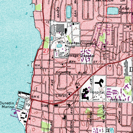 Topographic Map of Elizabeth Skinner-Jackson Playground, FL