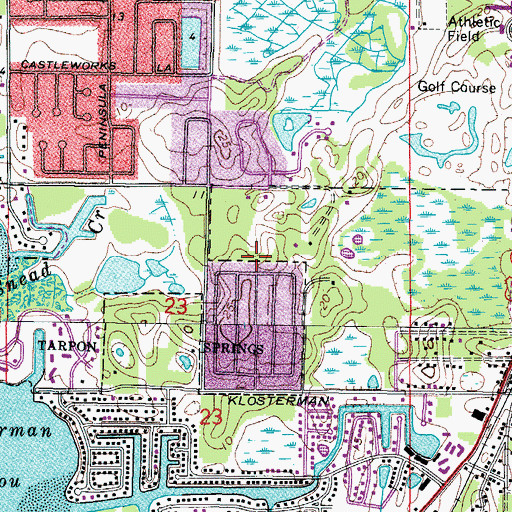 Topographic Map of Trentwood Playground, FL