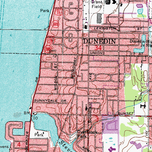 Topographic Map of Charles Park, FL