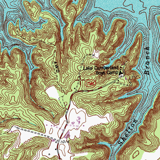Topographic Map of Dogtown (historical), KY
