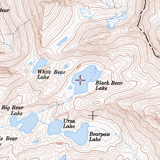 Topographic Map of Black Bear Lake, CA