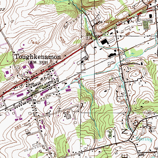 Topographic Map of Miller Run, PA