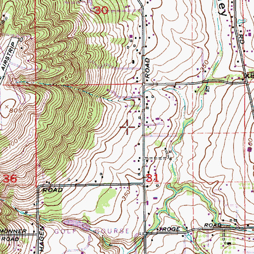 Topographic Map of Clackamas Fire District Number 1 Station 7 Pleasant Valley, OR