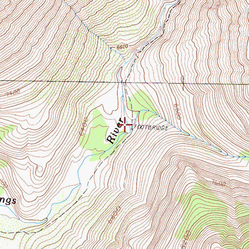 Topographic Map of Cartridge Creek, CA