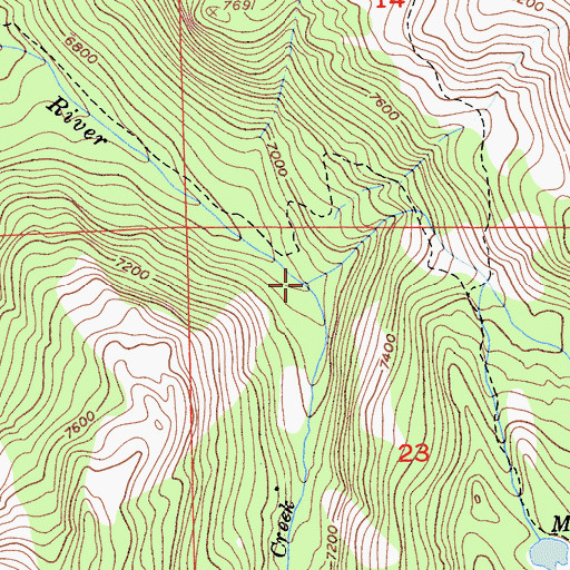 Topographic Map of Chief Creek, CA
