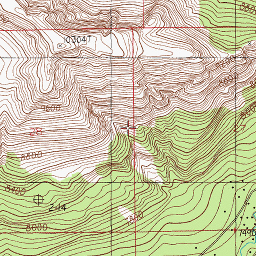 Topographic Map of Silver Gate Census Designated Place, MT