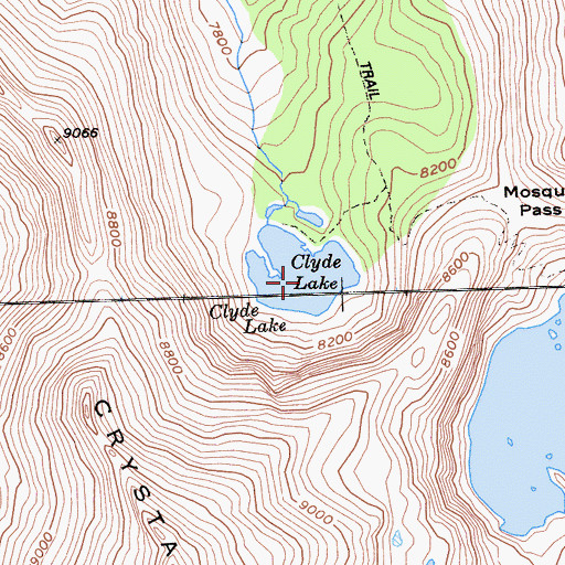 Topographic Map of Clyde Lake, CA