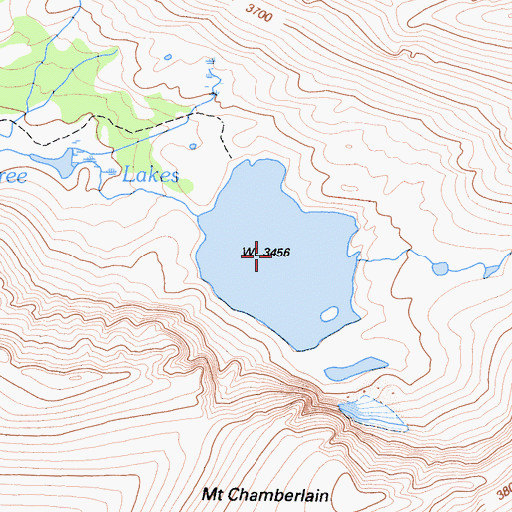 Topographic Map of Crabtree Lakes, CA