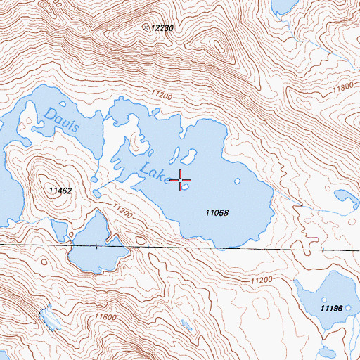 Topographic Map of Davis Lake, CA