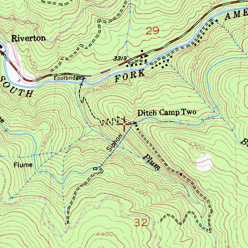 Topographic Map of Ditch Camp Two, CA