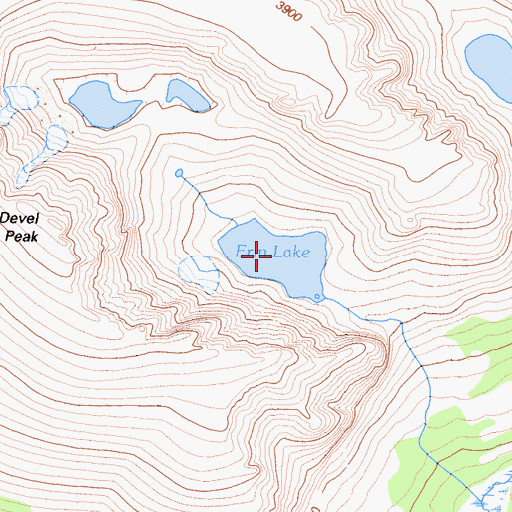 Topographic Map of Erin Lake, CA