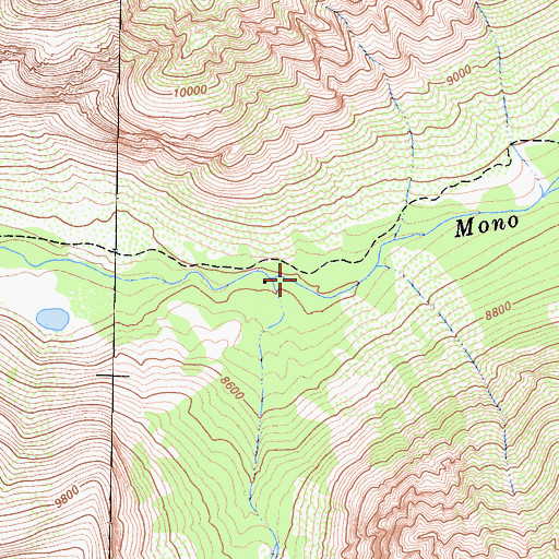 Topographic Map of First Recess, CA
