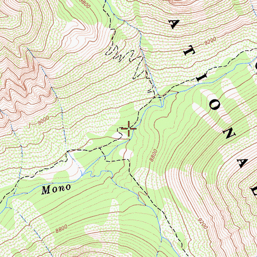 Topographic Map of Fish Camp, CA