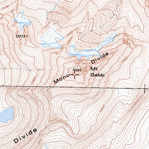 Topographic Map of Mount Gabb, CA