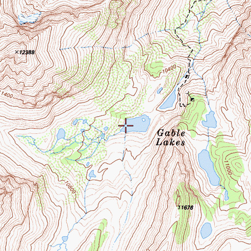 Topographic Map of Gable Lakes, CA