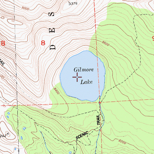 Topographic Map of Gilmore Lake, CA