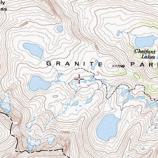 Topographic Map of Granite Park, CA