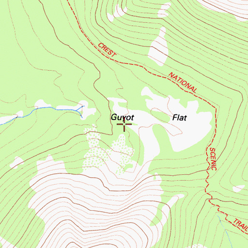 Topographic Map of Guyot Flat, CA