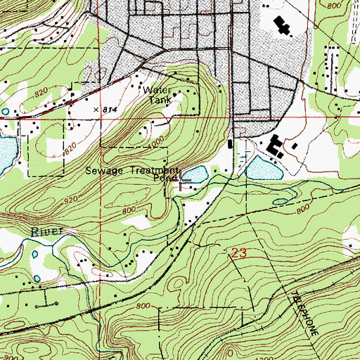 Topographic Map of Eatonville Sewage Treatment Plant, WA