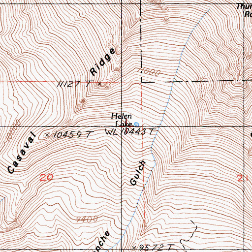 Topographic Map of Helen Lake, CA