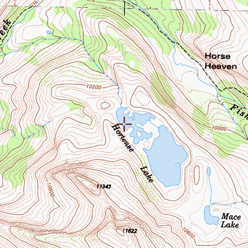 Topographic Map of Hortense Lake, CA